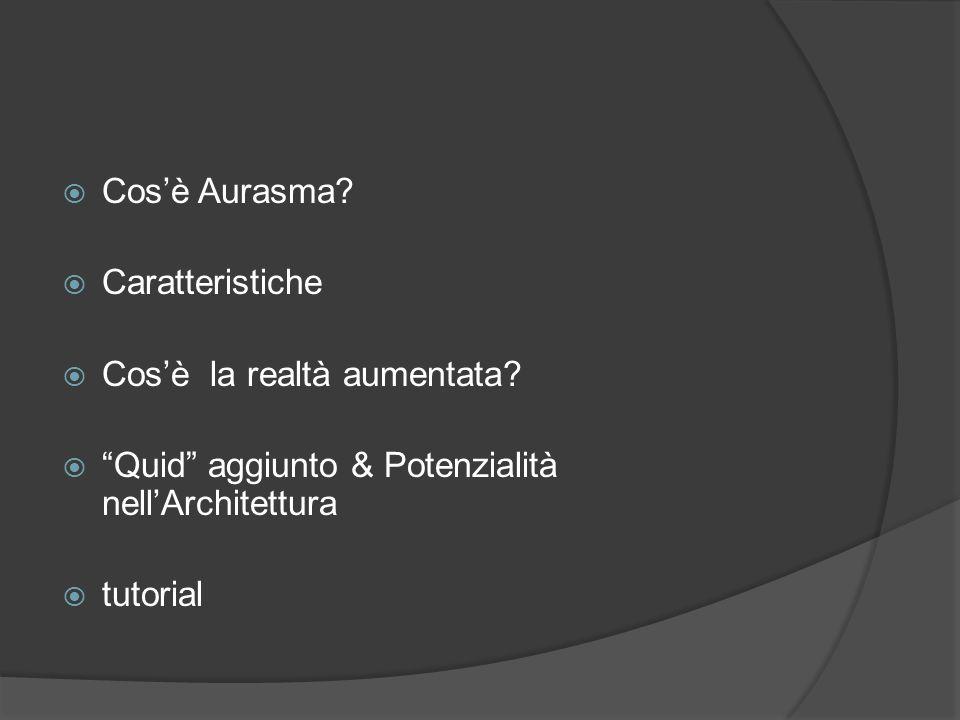 Cos'è Aurasma Caratteristiche. Cos'è la realtà aumentata Quid aggiunto & Potenzialità nell'Architettura.
