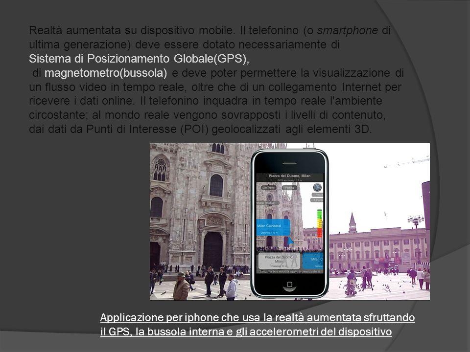 Realtà aumentata su dispositivo mobile