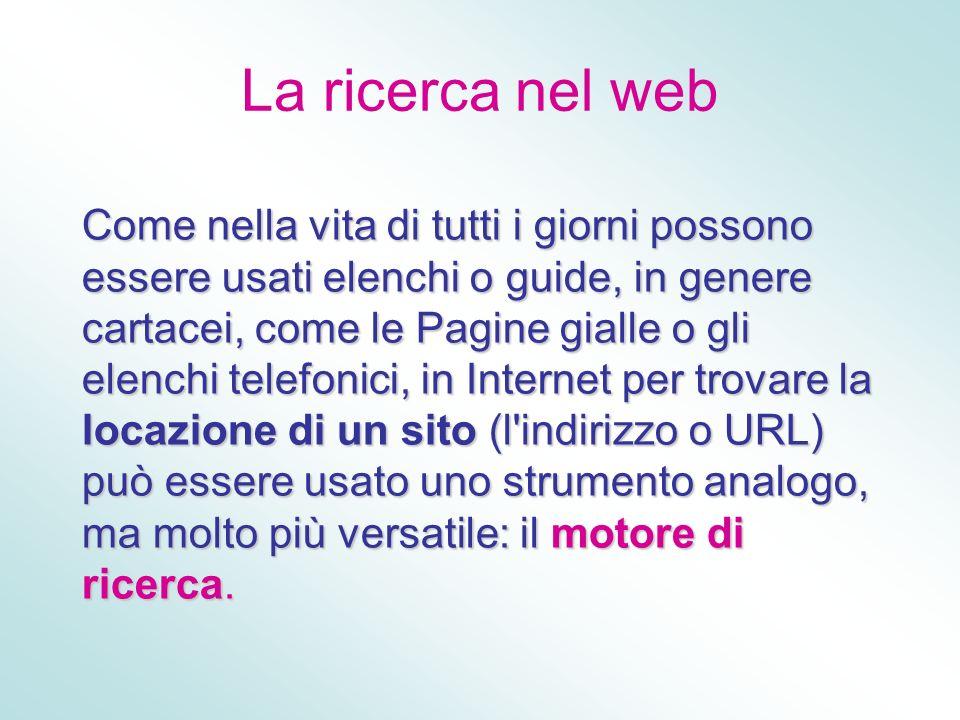 La ricerca nel web