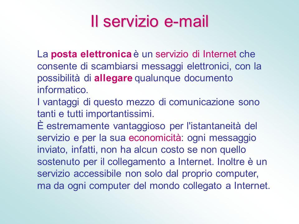 Il servizio e-mail