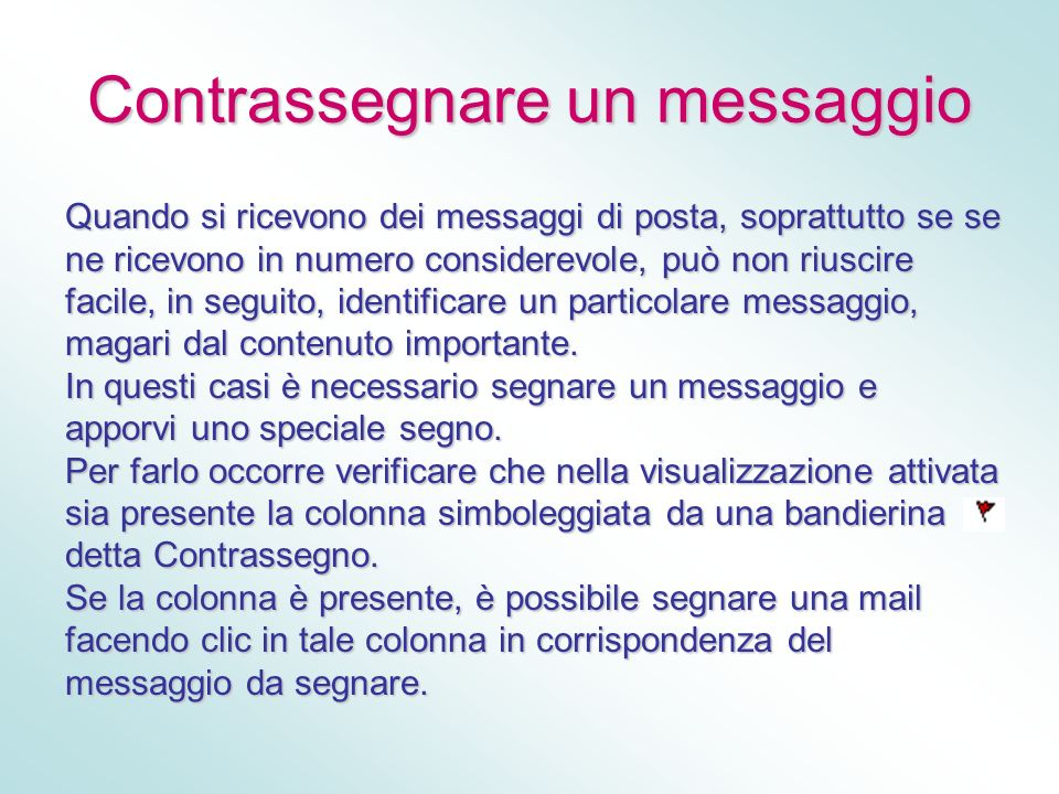 Contrassegnare un messaggio