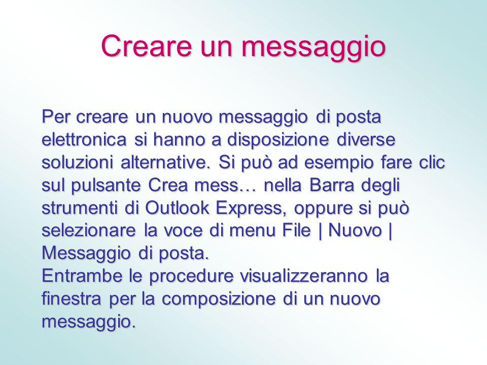 Creare un messaggio