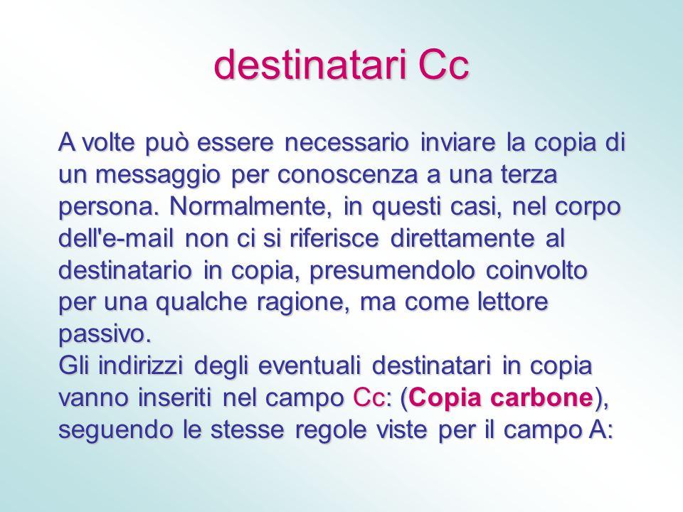 destinatari Cc