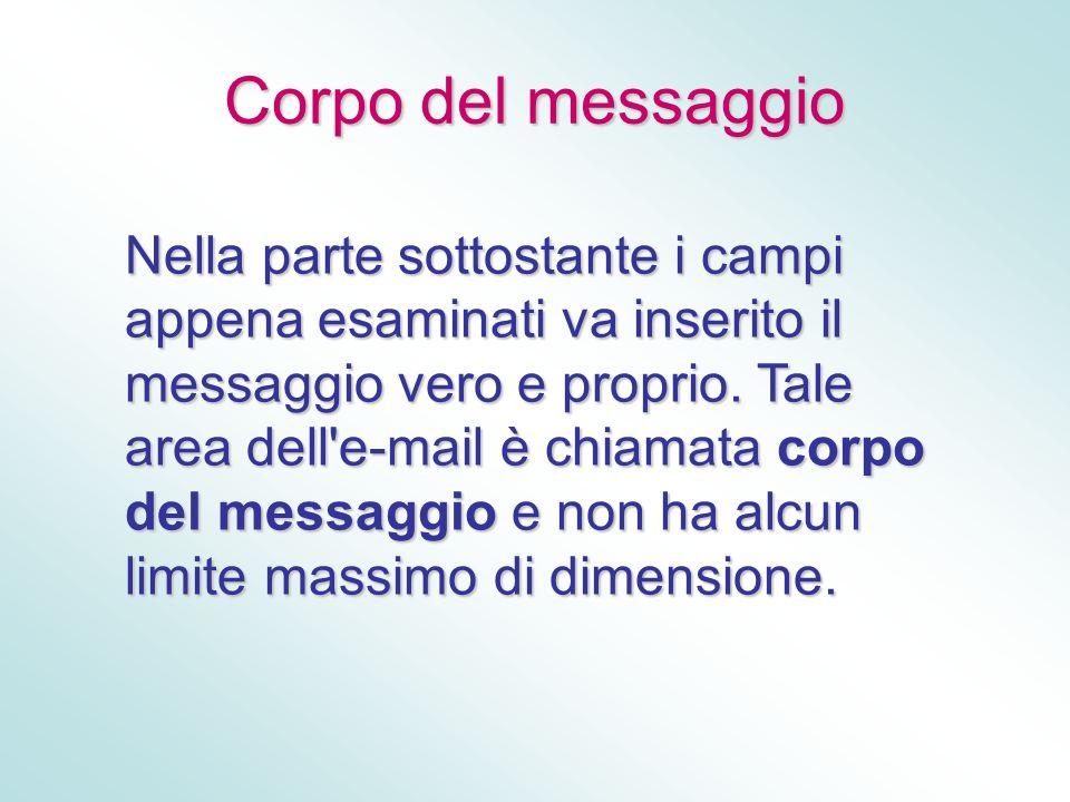 Corpo del messaggio