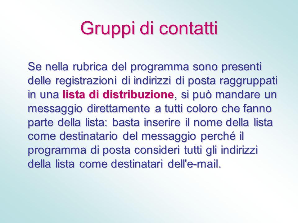 Gruppi di contatti