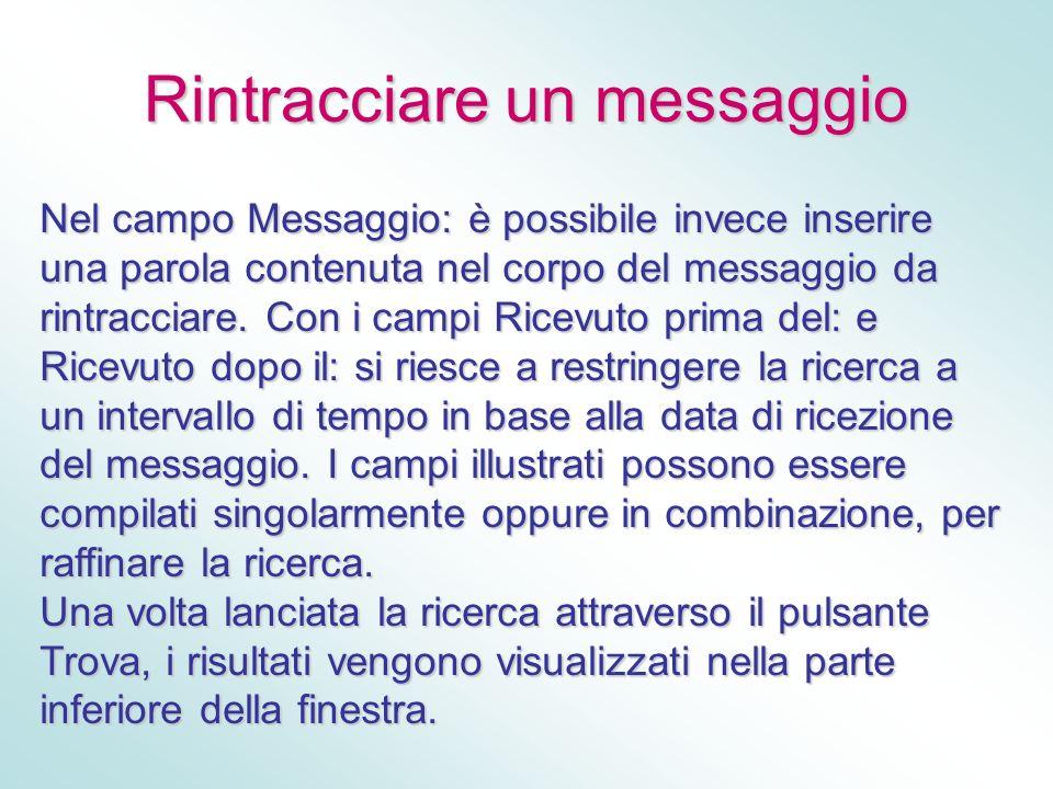 Rintracciare un messaggio