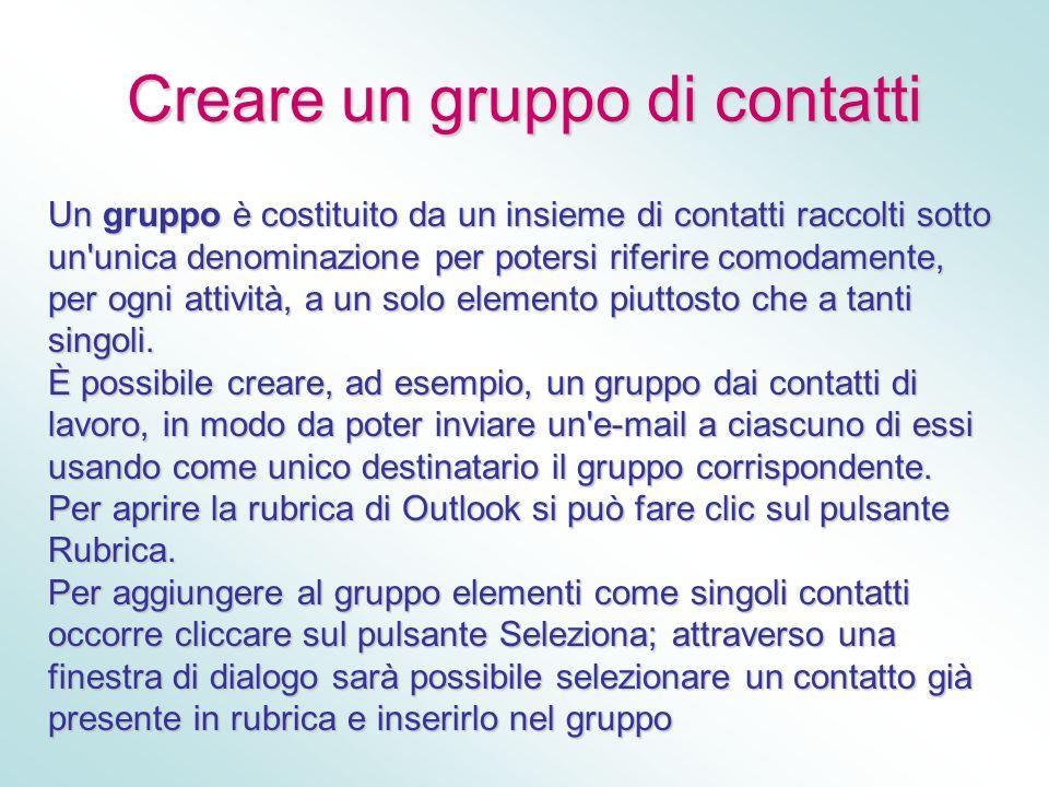 Creare un gruppo di contatti