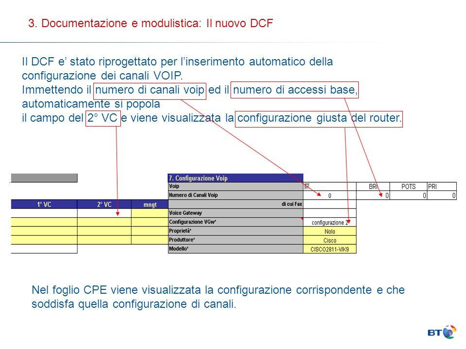3. Documentazione e modulistica: Il nuovo DCF