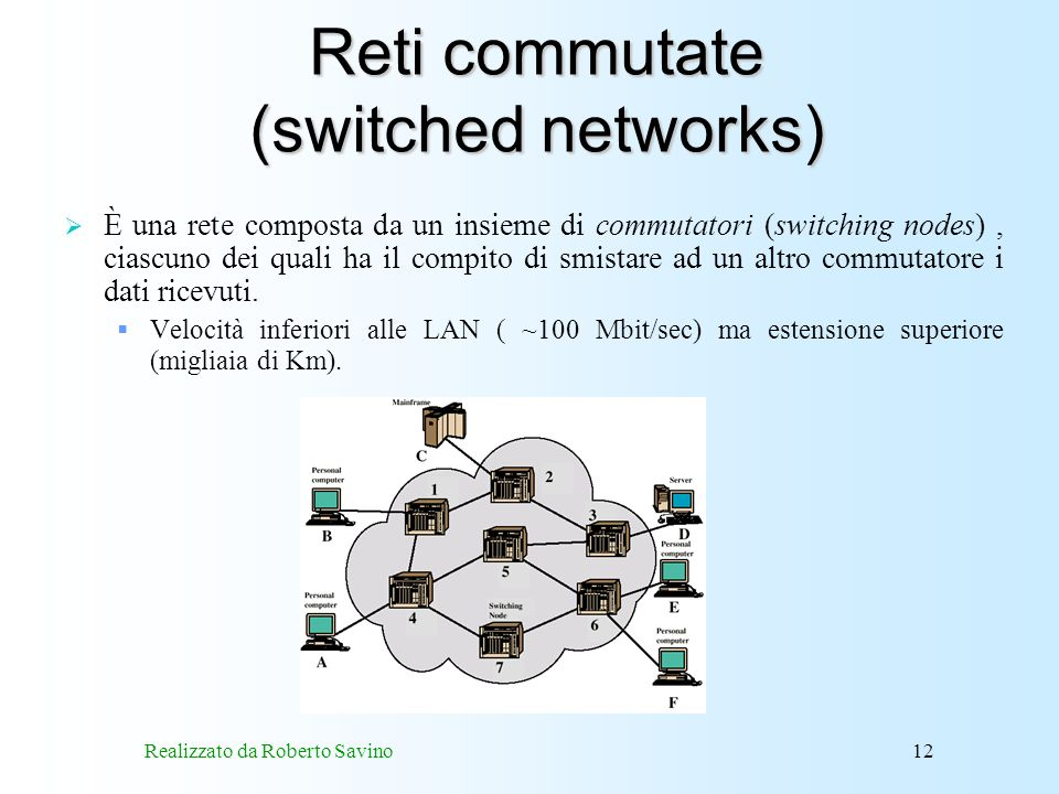 Reti commutate (switched networks)
