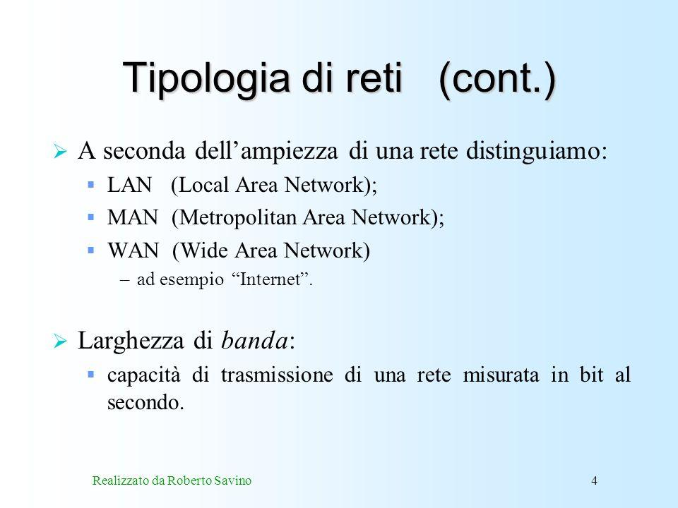Tipologia di reti (cont.)