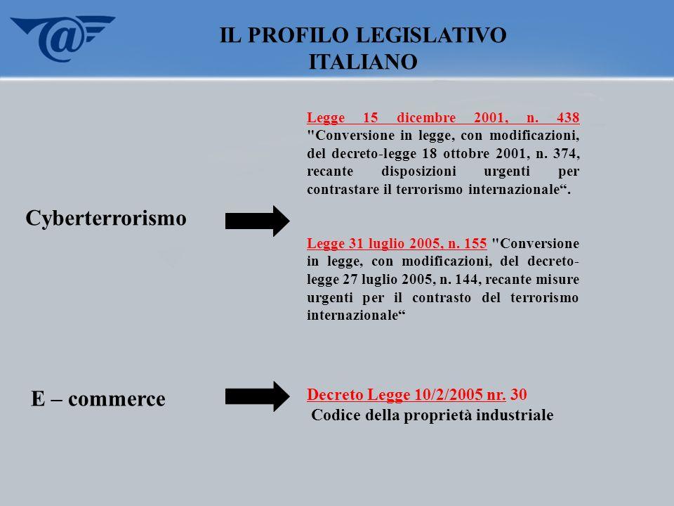 IL PROFILO LEGISLATIVO