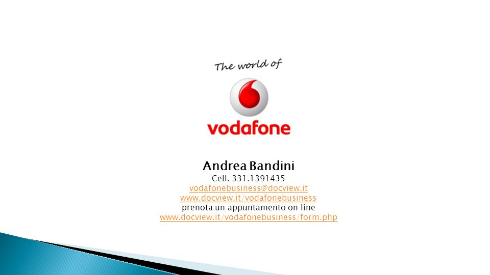 Andrea Bandini Cell. 331.1391435 vodafonebusiness@docview.it