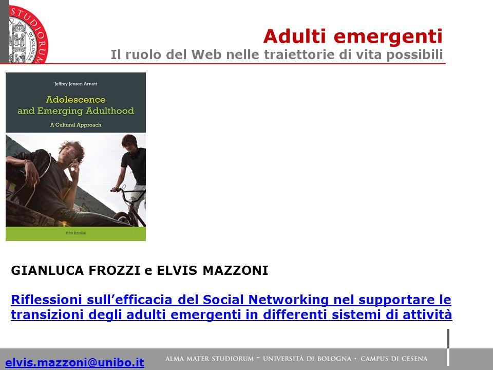 Adulti emergenti Il ruolo del Web nelle traiettorie di vita possibili