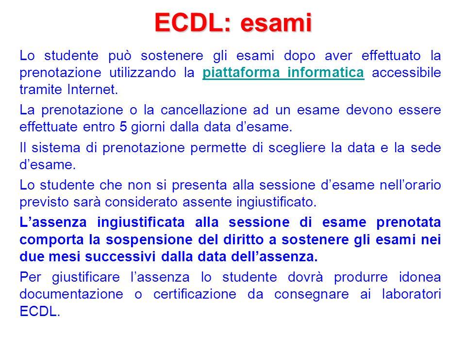 ECDL: esami