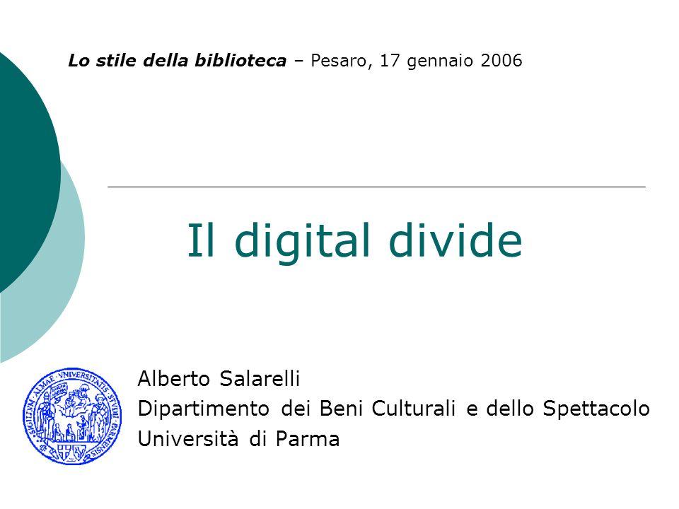 Il digital divide Alberto Salarelli