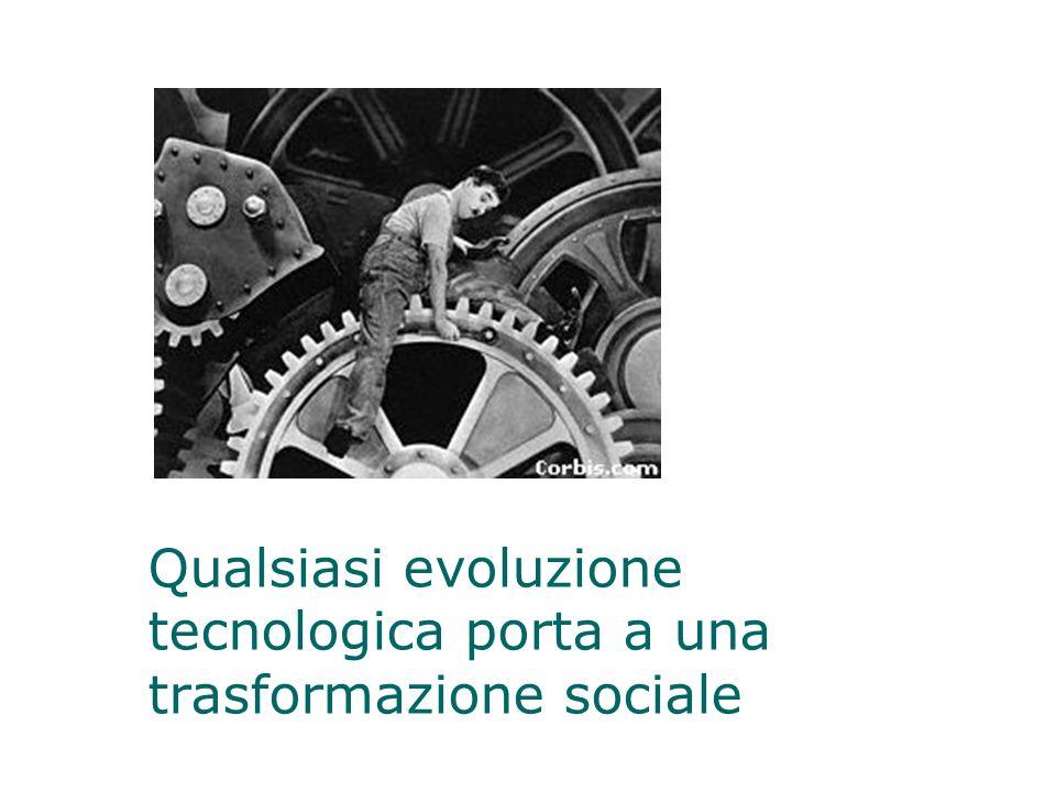 Qualsiasi evoluzione tecnologica porta a una trasformazione sociale