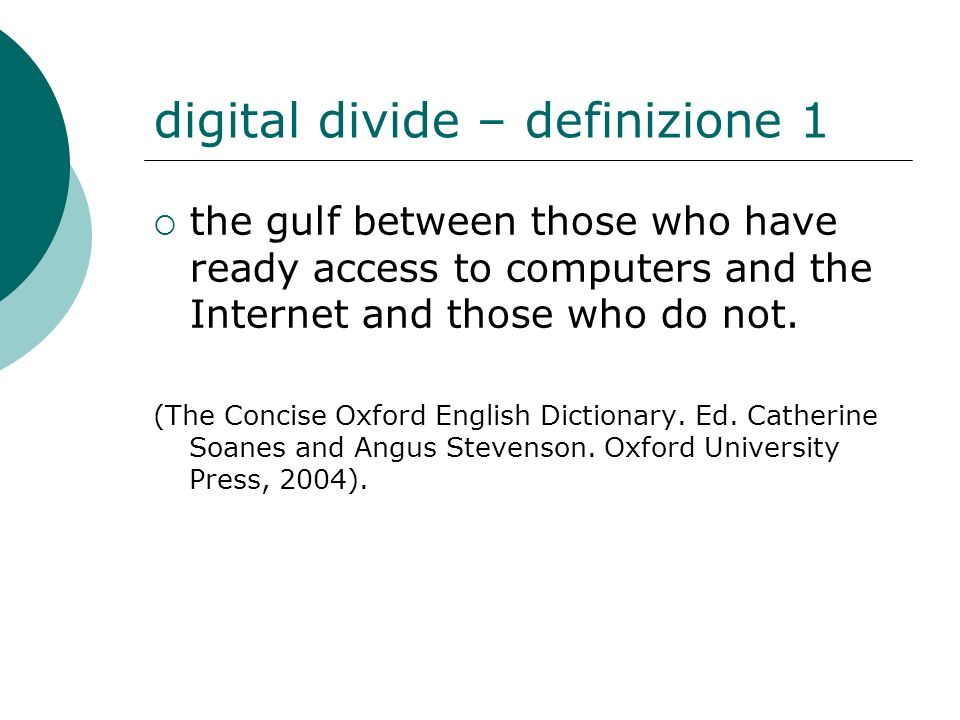 digital divide – definizione 1