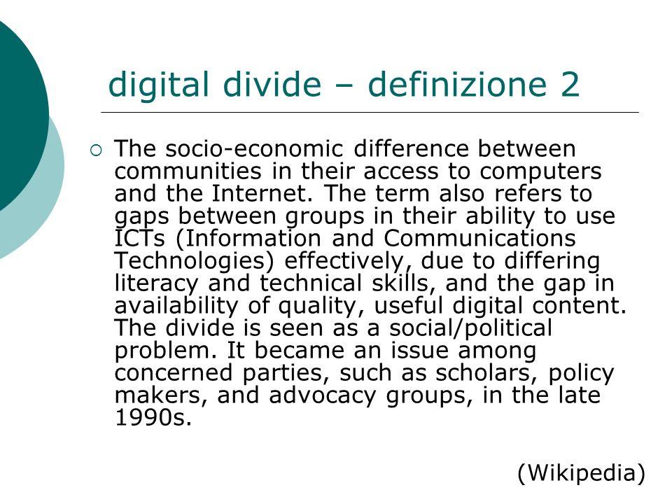 digital divide – definizione 2