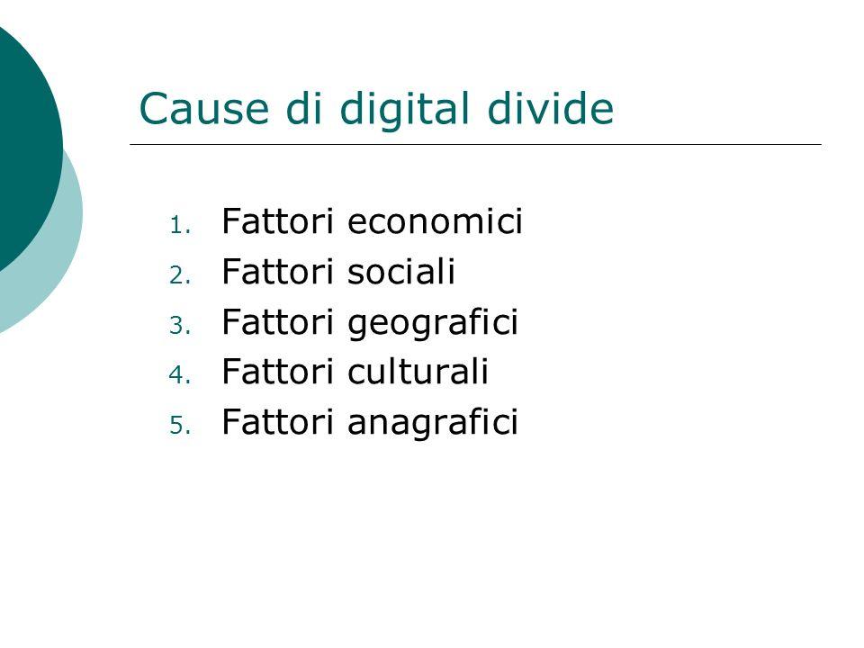 Cause di digital divide