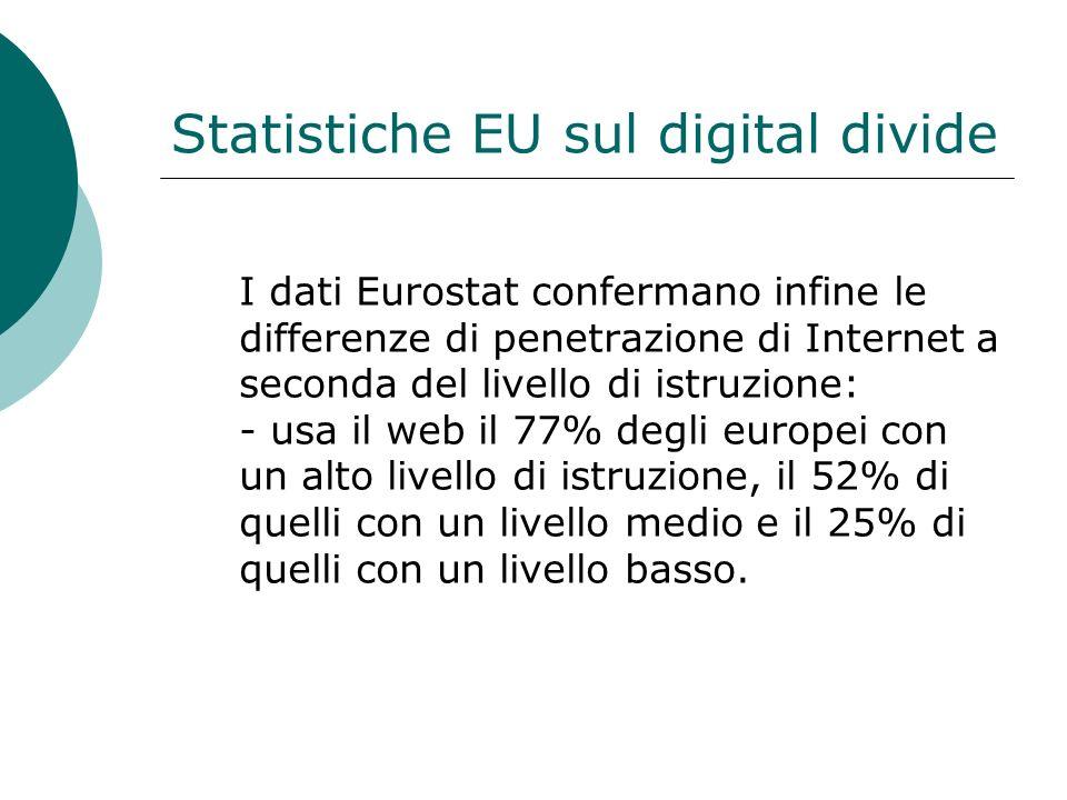 Statistiche EU sul digital divide