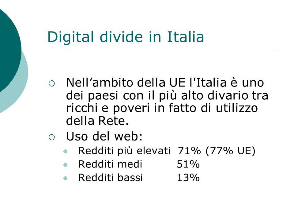 Digital divide in Italia
