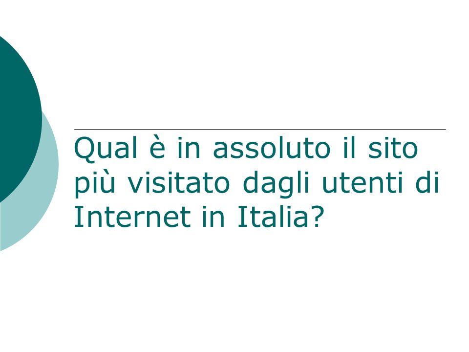 Qual è in assoluto il sito più visitato dagli utenti di Internet in Italia