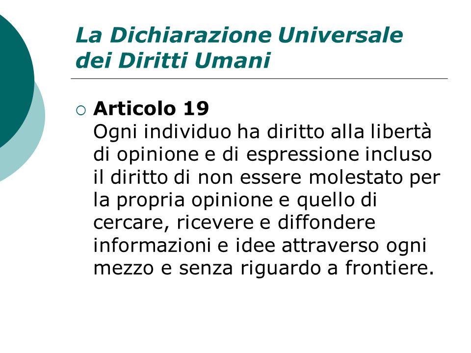 La Dichiarazione Universale dei Diritti Umani