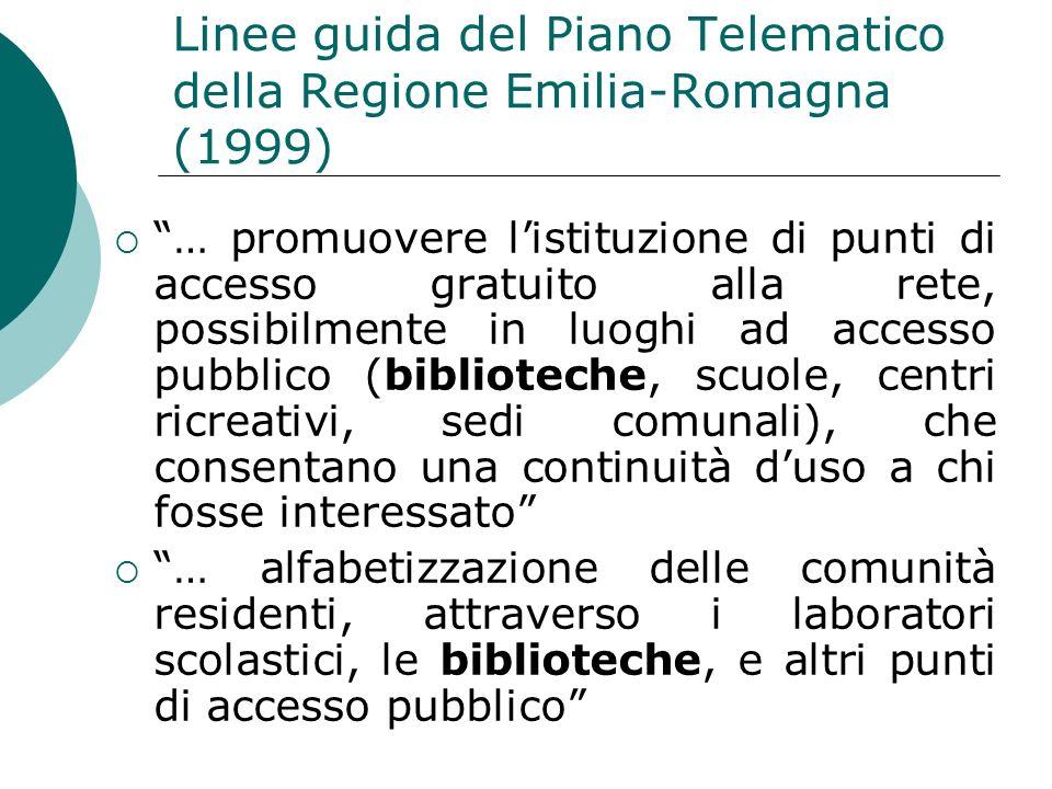 Linee guida del Piano Telematico della Regione Emilia-Romagna (1999)