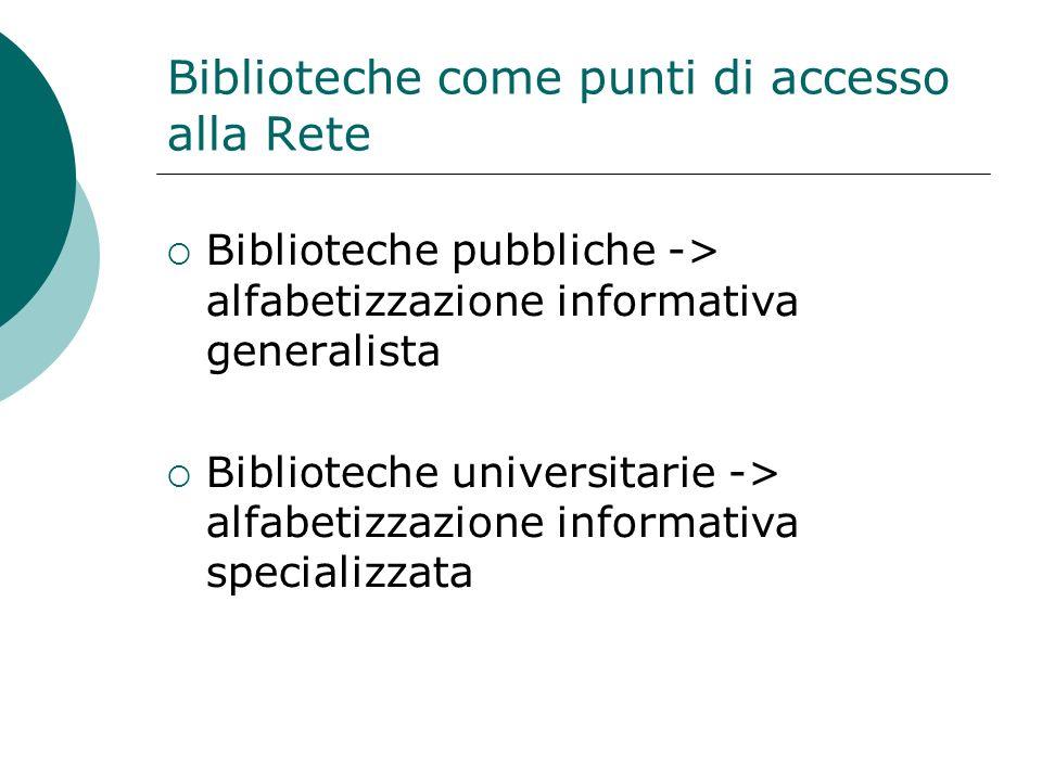 Biblioteche come punti di accesso alla Rete