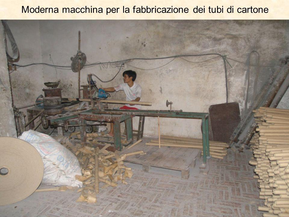 Moderna macchina per la fabbricazione dei tubi di cartone