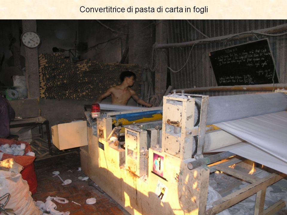 Convertitrice di pasta di carta in fogli