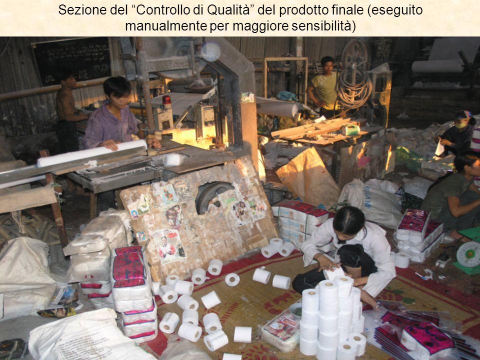 Sezione del Controllo di Qualità del prodotto finale (eseguito manualmente per maggiore sensibilità)