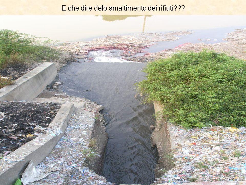 E che dire delo smaltimento dei rifiuti