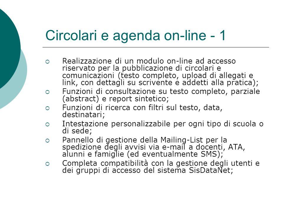 Circolari e agenda on-line - 1