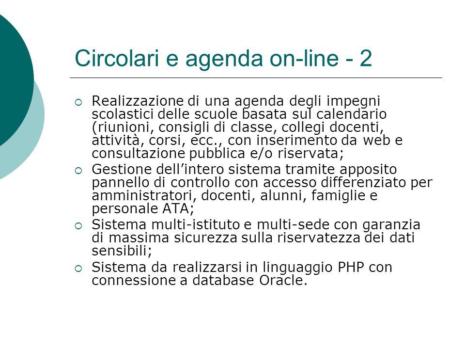 Circolari e agenda on-line - 2