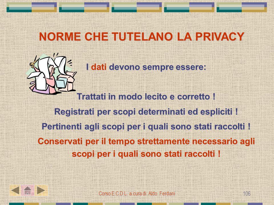 NORME CHE TUTELANO LA PRIVACY