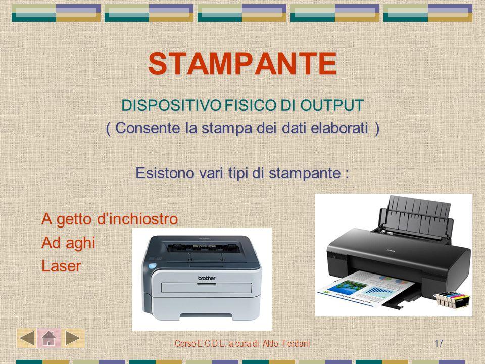 STAMPANTE A getto d'inchiostro Ad aghi Laser