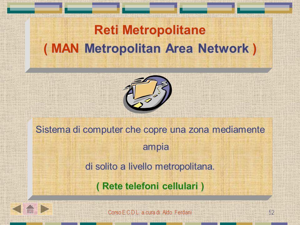 Reti Metropolitane ( MAN Metropolitan Area Network )