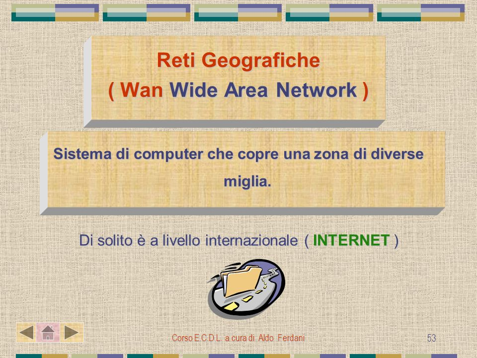 Reti Geografiche ( Wan Wide Area Network )