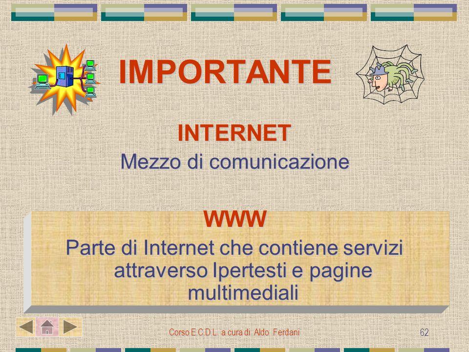 INTERNET WWW Mezzo di comunicazione