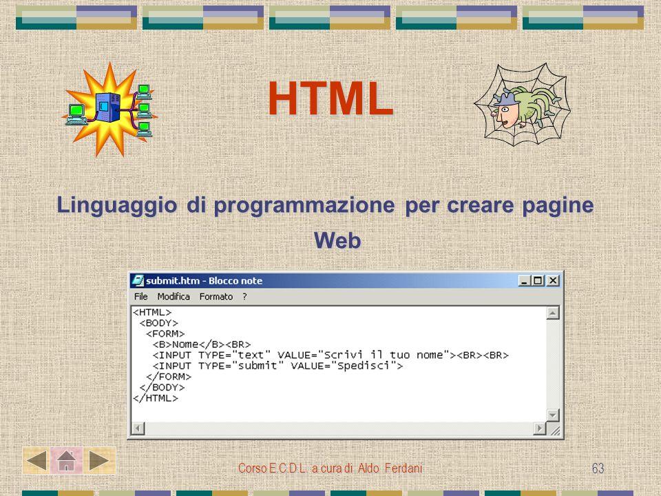 Linguaggio di programmazione per creare pagine Web