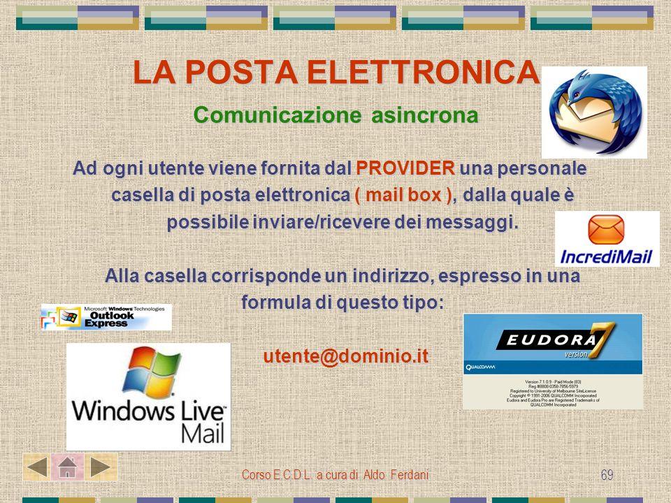 LA POSTA ELETTRONICA Comunicazione asincrona