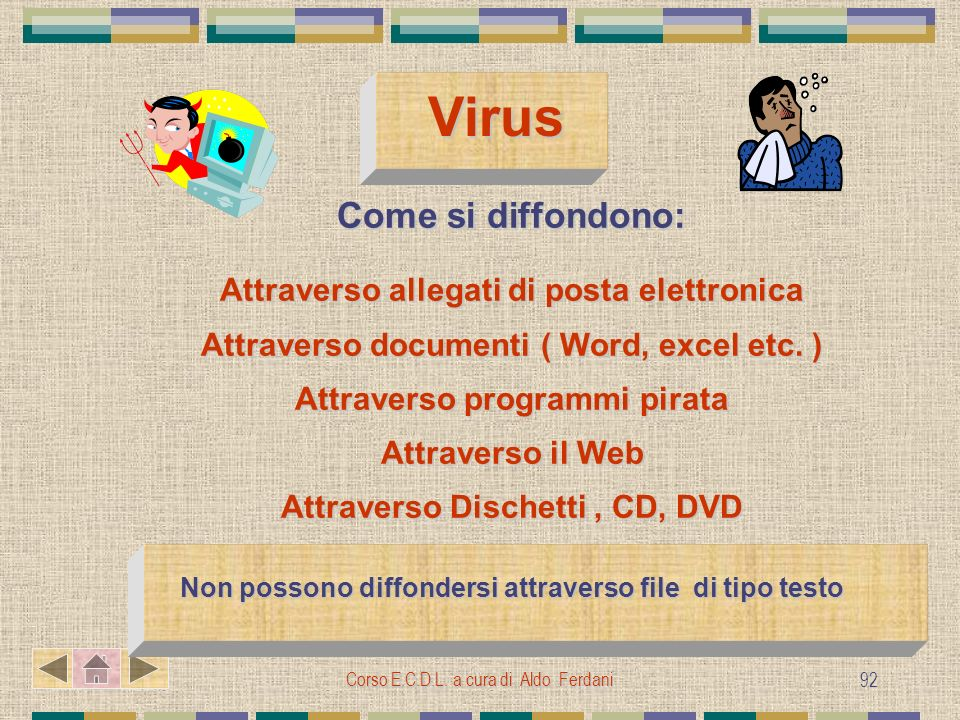 Virus Come si diffondono: Attraverso allegati di posta elettronica