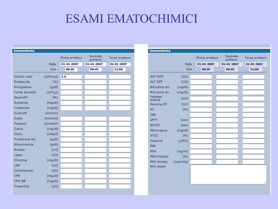 ESAMI EMATOCHIMICI