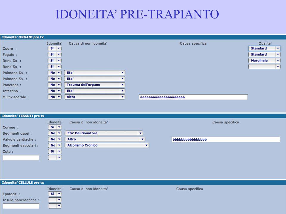 IDONEITA' PRE-TRAPIANTO