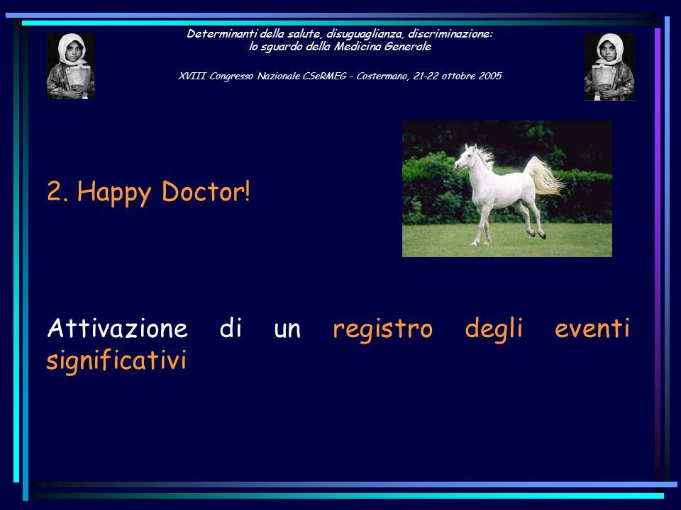 2. Happy Doctor!Attivazione di un registro degli eventi significativi.