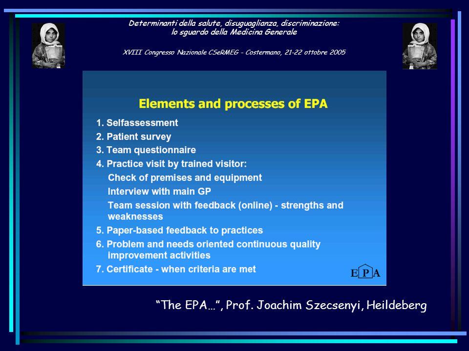 The EPA… , Prof. Joachim Szecsenyi, Heildeberg