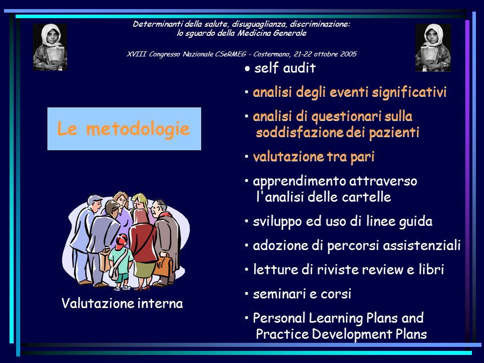 Le metodologie analisi degli eventi significativi