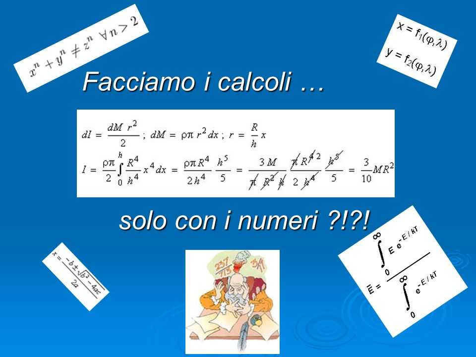 Facciamo i calcoli … solo con i numeri ! !