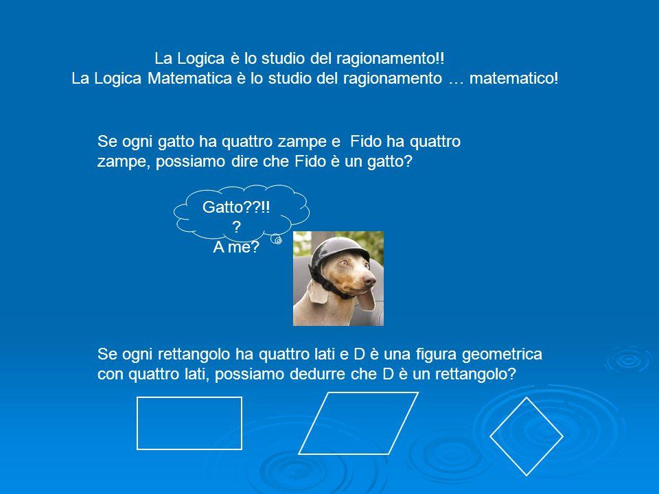 La Logica Matematica è lo studio del ragionamento … matematico!